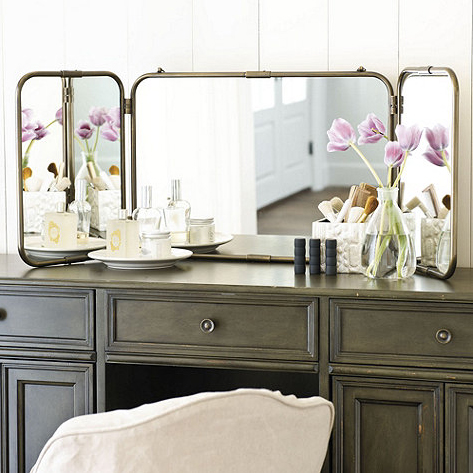 tri fold vanity mirror from ballard designs