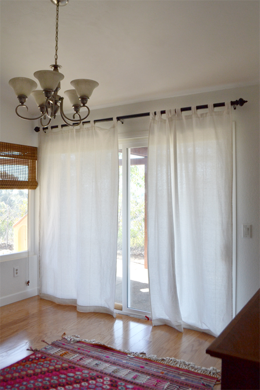 ikea curtains in family room