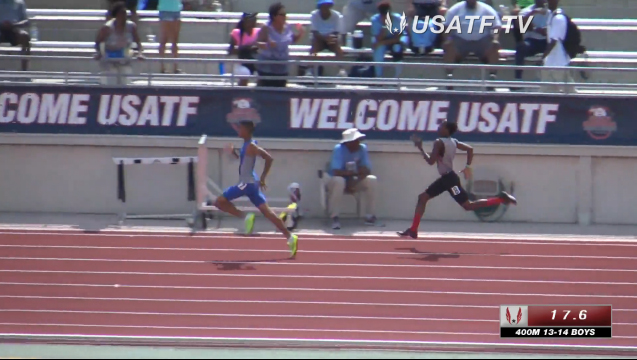 US Junior Olympics - 400M 13 & 14 Boys Heat 2